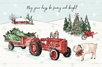 Holiday on the Farm I Farmy and Bright Fine Art Print