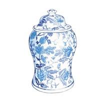 Ginger Jar VI on White Fine Art Print