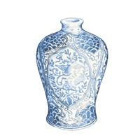 Ginger Jar I on White Fine Art Print