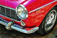 Fiat 1500 Cabriolet Red Front Detail Fine Art Print