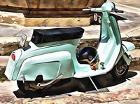 The Blue Lambretta Fine Art Print