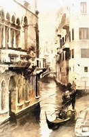 Gondoliers in Venice Vintage Fine Art Print
