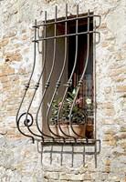Ornate Window Grill Cetona Fine Art Print