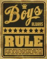 Boys Rule2 Fine Art Print