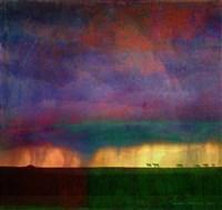 Horses Storm Abstract Fine Art Print