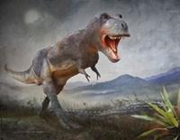 Gory Kill-Tyrannosaurus Rex Fine Art Print