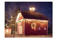 Christmas Barn Fine Art Print
