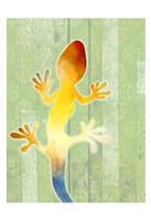 Painted Lizard 1 Fine Art Print