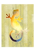 Painted Lizard 2 Fine Art Print