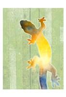 Painted Lizard 3 Fine Art Print