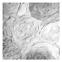 Paper Roses Grey 2 Fine Art Print