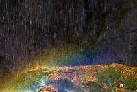 Water Falling On Rock 2 Fine Art Print