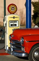 Old Car And Pump Fine Art Print