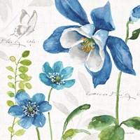 Blue and Green Garden III Fine Art Print