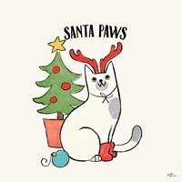Santa Paws V Framed Print