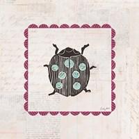 Ladybug Stamp Bright Fine Art Print