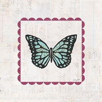 Butterfly Stamp Bright Fine Art Print