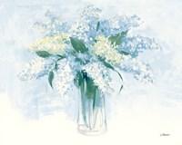 Contemporary Lilac Blue Fine Art Print