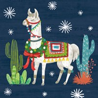Lovely Llamas V Christmas Fine Art Print
