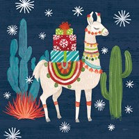 Lovely Llamas II Christmas Fine Art Print