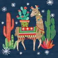 Lovely Llamas III Christmas Fine Art Print