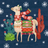 Lovely Llamas IV Christmas Fine Art Print