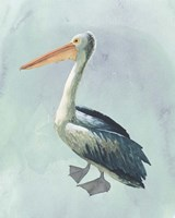 Watercolor Beach Bird VI Framed Print