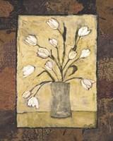 Blooms in Border I Framed Print