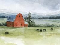Valley Herd II Framed Print
