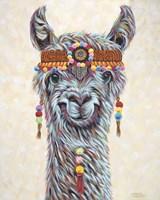 Hippie Llama I Fine Art Print