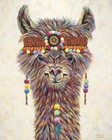 Hippie Llama II Fine Art Print