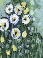 Modern White Floral II Fine Art Print