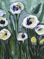 Modern White Floral V Fine Art Print
