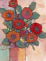Poppies in a Vase I Framed Print