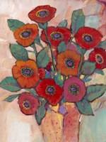Poppies in a Vase II Framed Print