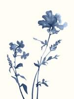 Indigo Wildflowers VI Fine Art Print