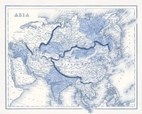 Asia in Shades of Blue Fine Art Print