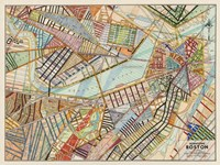 Modern Map of Boston Fine Art Print