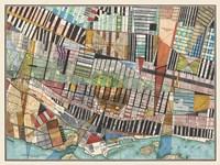 Modern Map of Montreal Fine Art Print