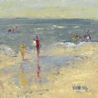 Impasto Beach Day I Fine Art Print