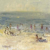 Impasto Beach Day II Fine Art Print