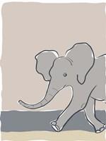 Pastel Zoo III Framed Print