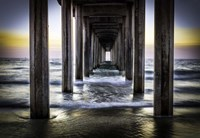 Cali Pier Sunset Fine Art Print