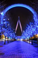The London Eye at Christmas Fine Art Print