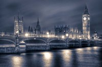 The Houses of Parliament at Night Fine Art Print