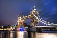 Tower Bridge at Night Fine Art Print