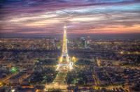 Eiffel Tower Light Show Fine Art Print