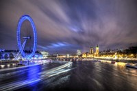 Light Trails Up The Thames Fine Art Print