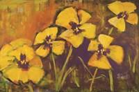 Yellow Pansies Fine Art Print