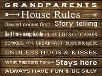 Grandparents House Rules Fine Art Print